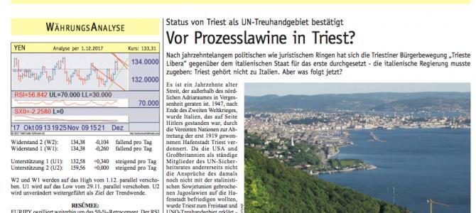 Vienna: il Börsen-Kurier sulla causa fiscale di Trieste al Governo italiano