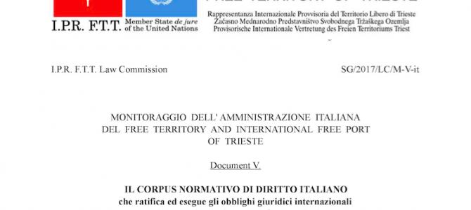 Consolidata la questione legale e fiscale del Free Territory of Trieste