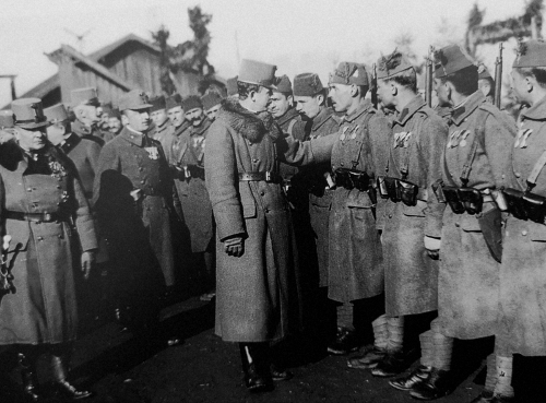Karl I of Austria with the Bosniaken of the II Regiment, Italian front