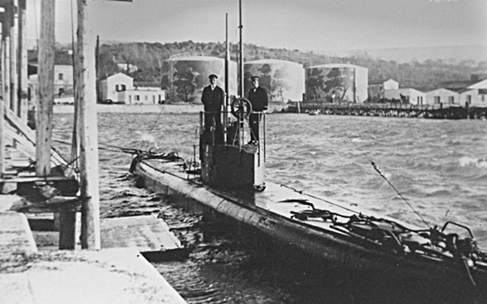 S.M. U-1 in Trieste, near the Depositi Costieri