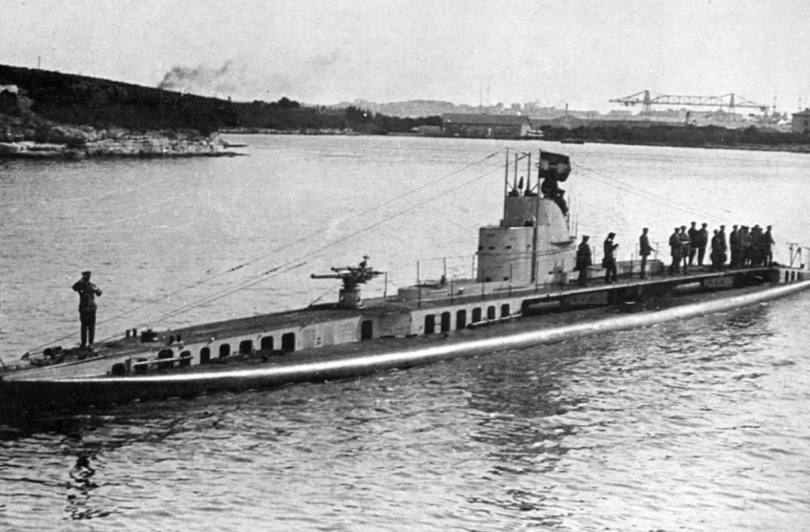 French submarine Curie, captured and renamed S.M. U-14 bis
