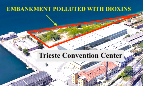 Trieste Convention Center: the Municipality has hidden that the area is contaminated with dioxins